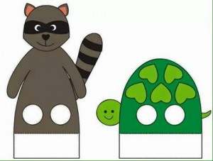 finger puppet worksheets cat and turtle