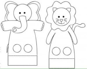 finger puppet worksheets elephant