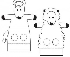 finger puppet worksheets farm animals