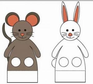 finger puppet worksheets rabbit