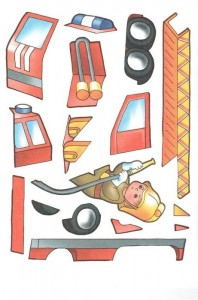fire truck cut and paste activities