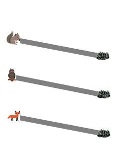 forest animals fine  motor
