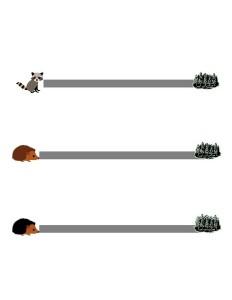 forest animals line