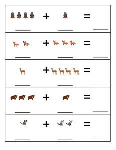 forest animals math