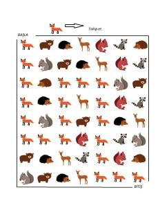 forest animals maze for kıds