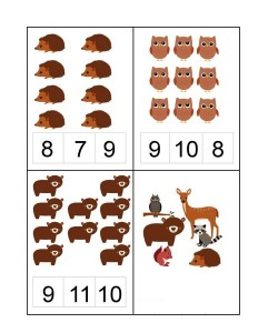 forest animals number for kıds