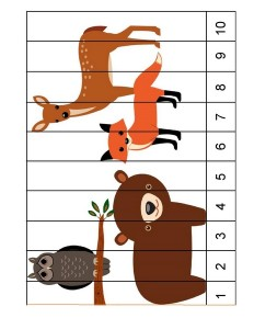 forest animals puzzle activity