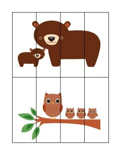 forest animals simple puzzle