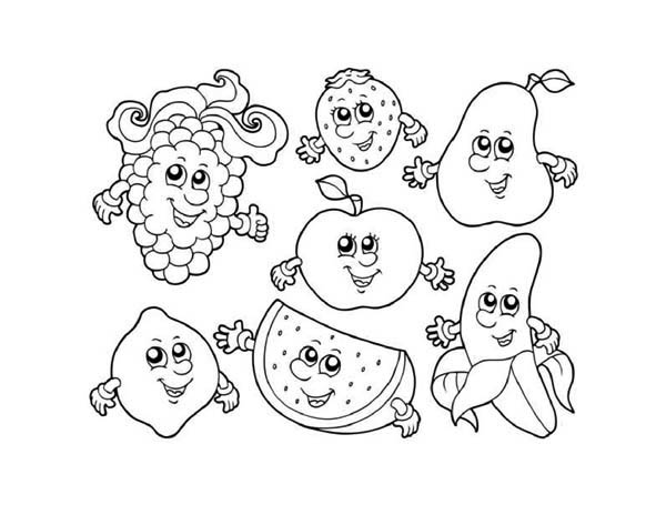 Fruit Coloring Pages For Kids 27