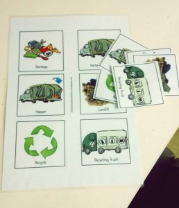 garbage truck cards