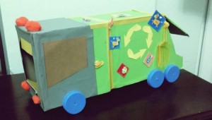 garbage truck crafts for kıds
