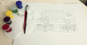 garbage truck crafts for kıds coloring