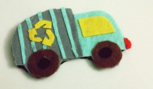 garbage truck crafts for kıds felt