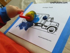 garbage truck crafts for kıds fine motor