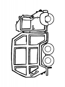 garbage truck worksheets coloring pages (12)