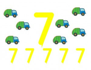 garbage truck worksheets number