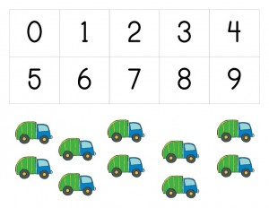 garbage truck worksheets number sheets