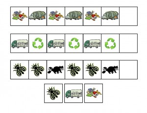garbage truck worksheets pattern