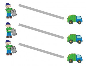 garbage truck worksheets pre-writing