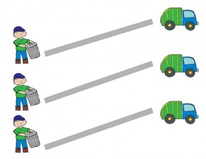 garbage truck worksheets pre writing