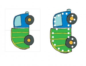 garbage truck worksheets puzzle and lacing card