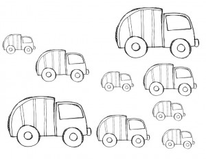 garbage truck worksheets size activity