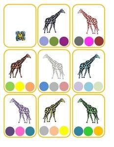 giraffe color activity
