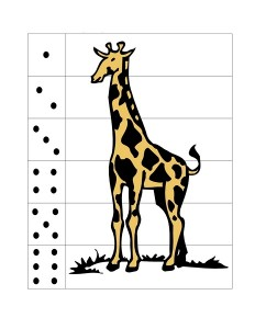 giraffe number puzzle prinable