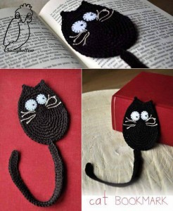 hand knitted bookmark crafts (1)
