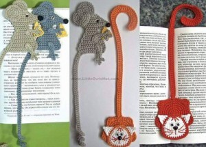 hand knitted bookmark crafts (8)