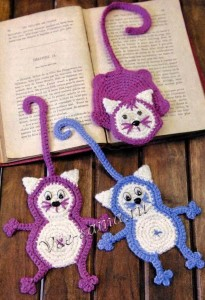 hand knitted bookmark crafts (9)