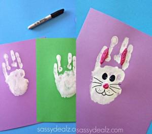 handprints bunny crafts