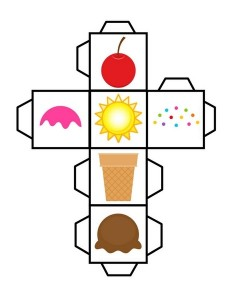 ice cream dice worksheets