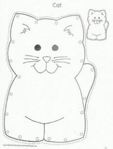 lacing cards cat