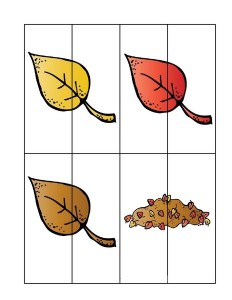 leaf themed puzzle actvity