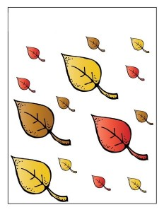 leaf themed size activities