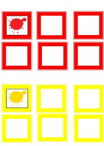 learning color activities yellow andred