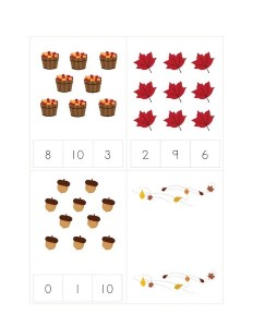 learning math autumn theme activities