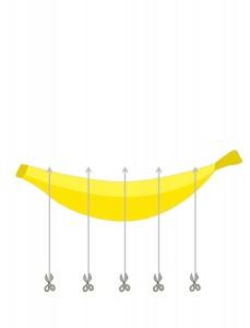 minions banana cutting