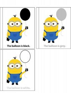 minions coloring ballon