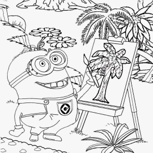 minions coloring pages for kınderten