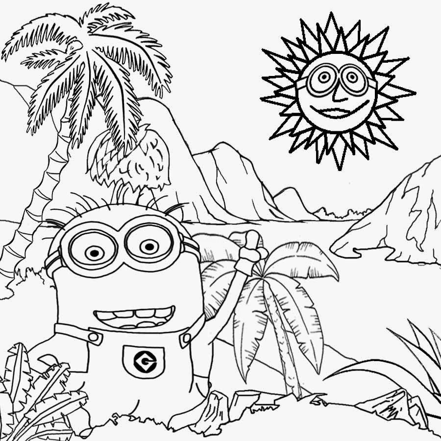 minions cool activities for kds minions coloring pages - Free Coloring Pages Minions