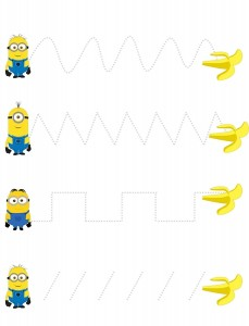 minions tracing lines