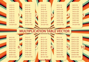 multiplication table vector for school