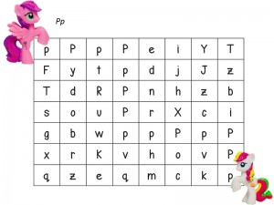 my little pony alphabet