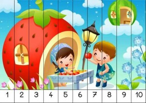 number 1-10 sequence puzzles (3)