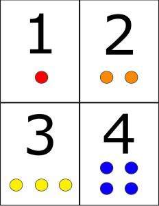 number cards for preschool
