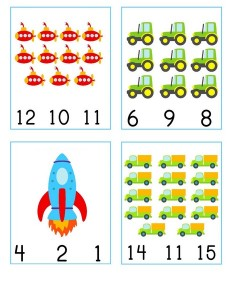 number cards vehicles  (4)