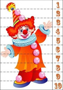 number puzzle clown