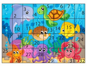 ocean animal sequence puzzle